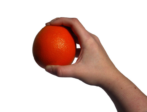 an orange: none