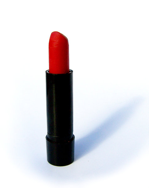 lipstick: partially used red lipstick