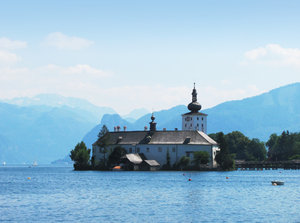Castle by the lake 1: Series of Castles by the lake Traunsee in Upper Austria
