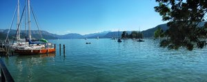 Summer at the lake: Lake Attersee panorama, Upper Austria