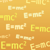 Science background graphic: Einstein's formula as a background graphic.