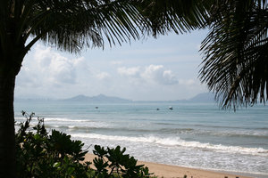 Tropical beach 4: A beach on the southern shore of Hainan Island, China.