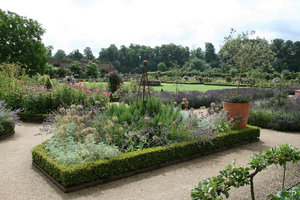 English garden 2: A large semi-formal garden in West Sussex, England, in summer.