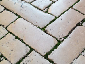 old stone pavement: none