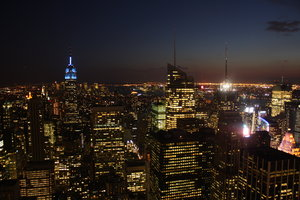 New York at night: On top of Rockefeller Center.