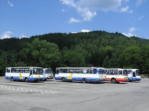 Bus stop: A bus stop / parking in Wisla, Poland. Mountains area.Please comment this shot or mail me if you found it useful. Just to let me know!I would be extremely happy to see the final work even if you think it is nothing special! For me it is (and for my portfo
