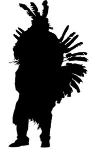 Indian Silhouette: An indian with some plume.Please comment this shot or mail me if you found it useful. Just to let me know!I would be extremely happy to see the final work even if you think it is nothing special! For me it is (and for my portfolio).