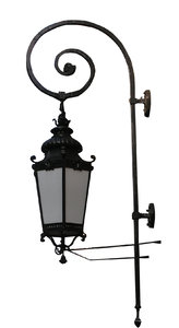 Street lamp: An iron lamp from London.
