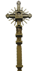 Wooden cross: A cross isolated.