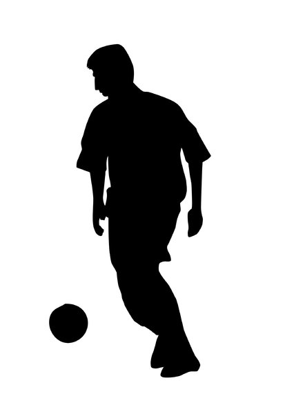 Soccer player: A man playing football