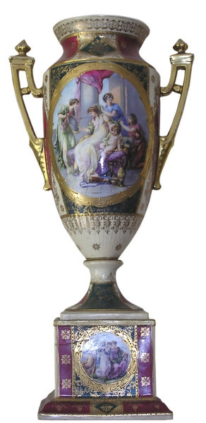 Decorative pottery: A decorative vase.