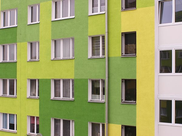 Windows: Some windows of green and yellow house of flat.Please mail me or comment this photo if you found it useful. Thanks in advance!I would be extremely happy to see the final work even if you think it is nothing special! For me it is (and for my portfolio)!