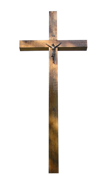Wooden cross: Just a cross.