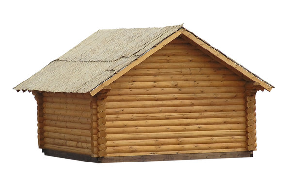 Wooden house: A wooden chut.