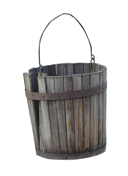Pail and bail: A bucket made of wood.