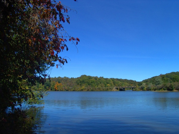 Crisp Autumn Morning: Crisp Autumn morning looking across the lake at Salt Fork Camping Park, Ohio.