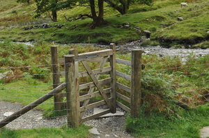 Kissing gate: Kissing gate in Wales on way to scenic views