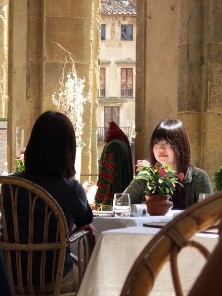 japanese lunch in tuscany/ital: shot was taken at lunch time in arezzo - tuscany