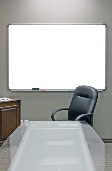 Conference Room: Conference room and white presentation board.