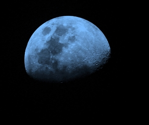 Blue Moon 1: Moon Spots and Crators