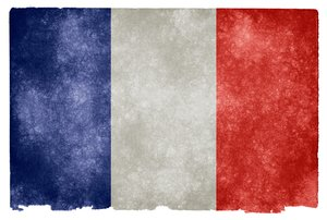 France Grunge Flag: Grunge textured flag of France on vintage paper. 