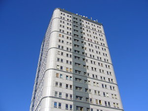 Tower Block - Bewick Court, Ne: The Bewick Court tower block in Newcastle upon Tyne city centre