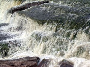 waterfall 1: photo taken in Canaima, Venezuela