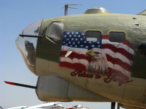 B-17G Return to Glory: B-17G Flying Fortress at March Field Air Museum, CA.
