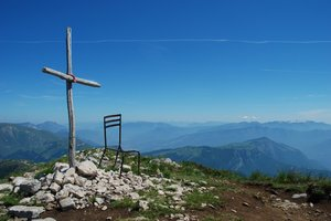 Cross on Mountain: Cross on Mountain, Monte Baldo, Italy