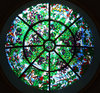 light circles: circular stained glass window skylight