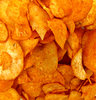 cassava chips: chilli sprinkled and flavoured cassava chips