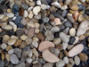 river rocks1: smooth river rocks in garden display