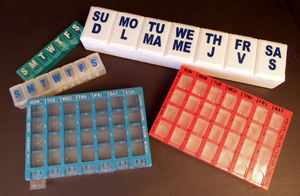 just a reminder1: pill box organisers