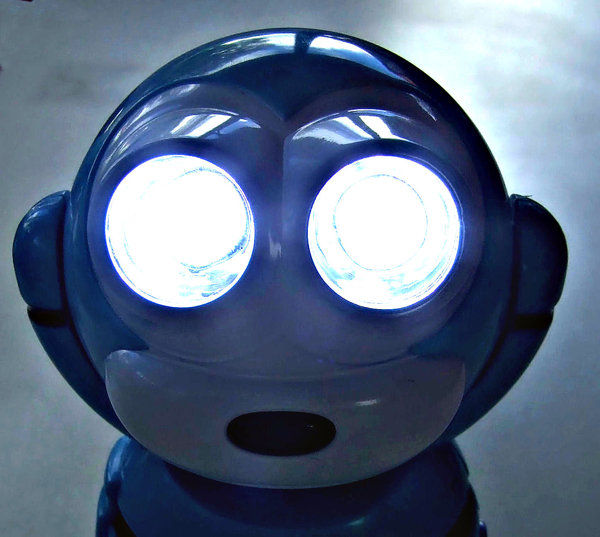 night vision: a small robot shaped night light and torch
