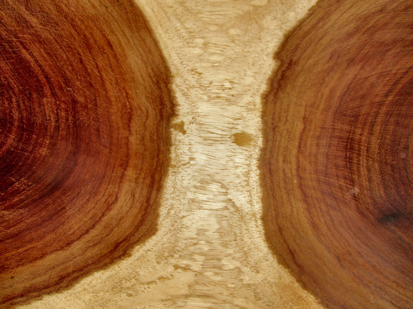 combined wood grains: wooden African bowl of combined wood grains