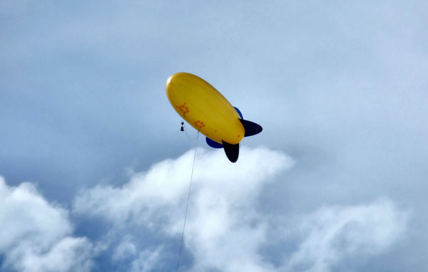 yellow blimp2b: a tethered blimp with monitoring cameras and equipment