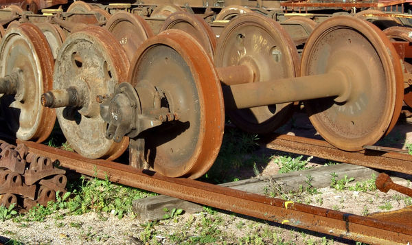 wheels to spare1: spare railway train carriage wheels