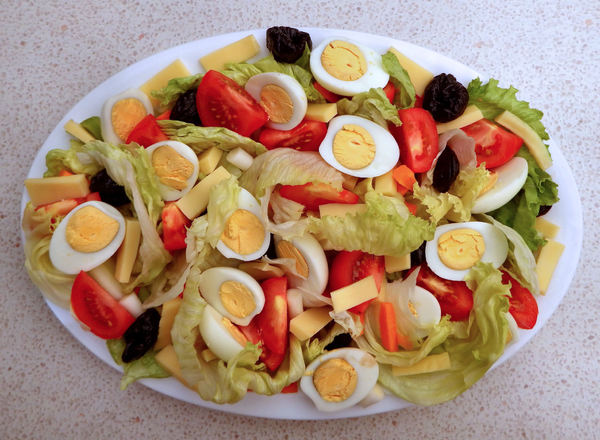 Creative salad decoration designs