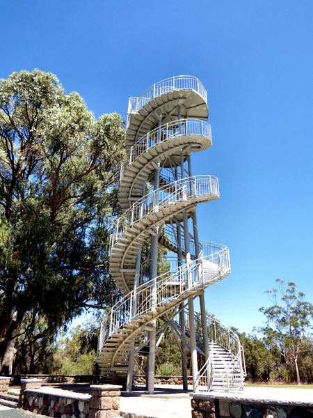 park lookout tower1: high spiralling steel park DNA lookout tower - Perth