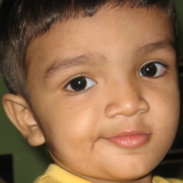 Child 1: A 3-year old Indian boy.