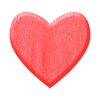 Red Wooden Heart: A heart of wood.