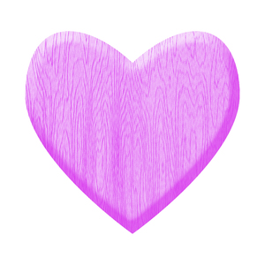 Purple Wooden Heart: A heart of wood.