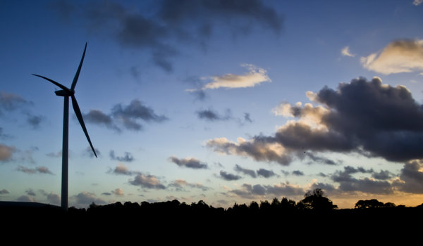 Wind Turbine: This monster has just been erected at Garstang, Lancashire.