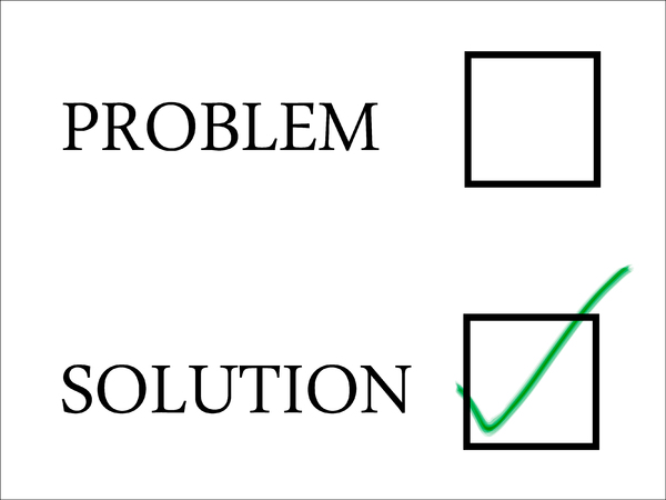 Solution 2: Solution selection with green tick in tick-box.