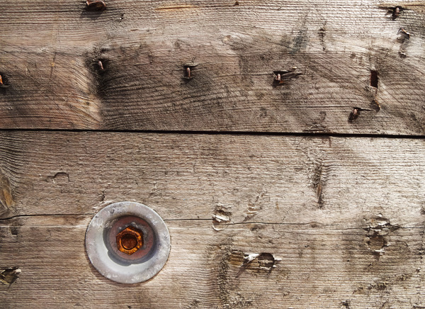 Industrial Reel: Detail from an industrial wooden reel.