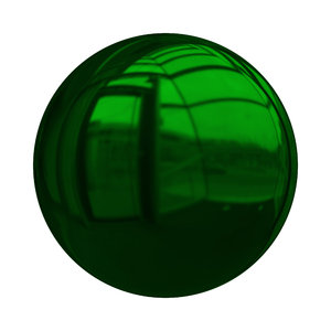 Christmas Baubles 5: Decorative Christmas bauble or ball in green with a shiny and reflective surface.Could be used as a button also,