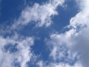 Cloudy Sky 2: A cloudy sky, suitable for a background, texture or fill.