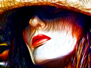 Sketch of Woman's Face: An abstract of a woman's face. Made from a public domain Dennis Hill image of a mannequin. Great fashion, travel or summer image.