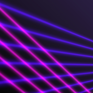 Laser Beams 1: Graphic image of coloured laser beams. A great futuristic background, texture, etc.