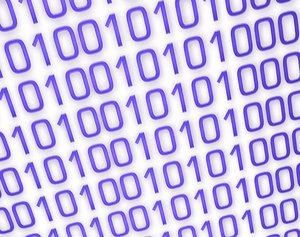 Binary Background 10: A binary background in blue and white.